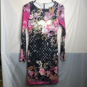 Arden b long sleeve printed dress